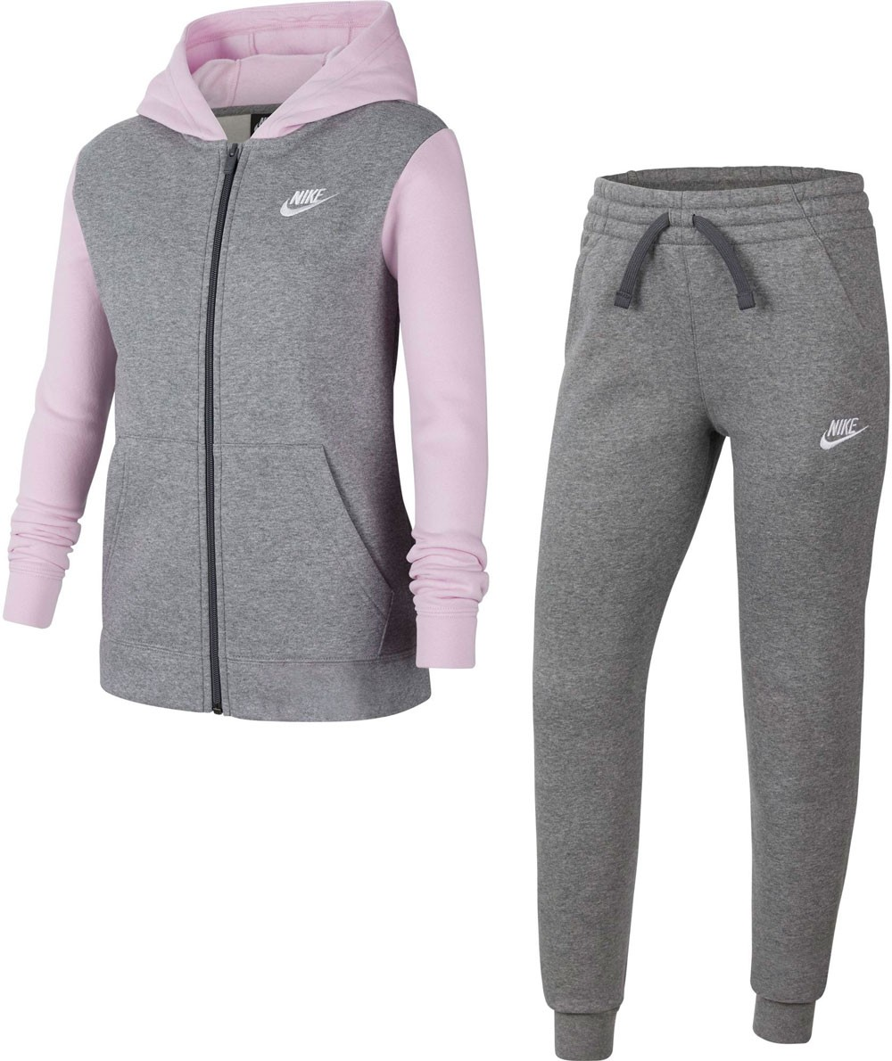 Спортивный костюм детский Nike NSW Track Suit BF Core carbon heather/dark grey/light arctic pink/white