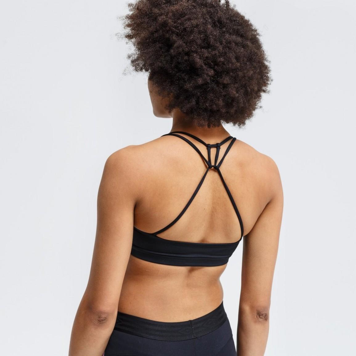 Топ женский Nike INDY NON PAD Bra black/white