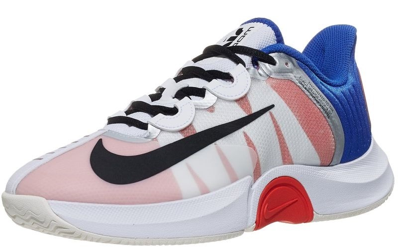 Теннисные кроссовки женские Nike WMNS Air Zoom GP Turbo white/black/racer blue