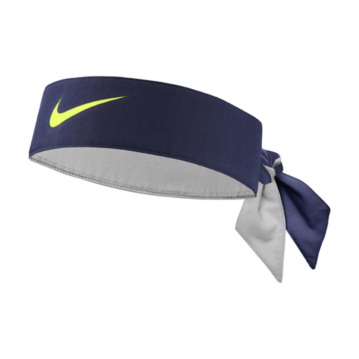 Бандана Nike Dry Tennis Headband blackened blue/ghost green