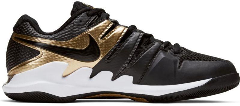 Теннисные кроссовки мужские Nike Air Zoom Vapor 10 HC black/black/metallic gold