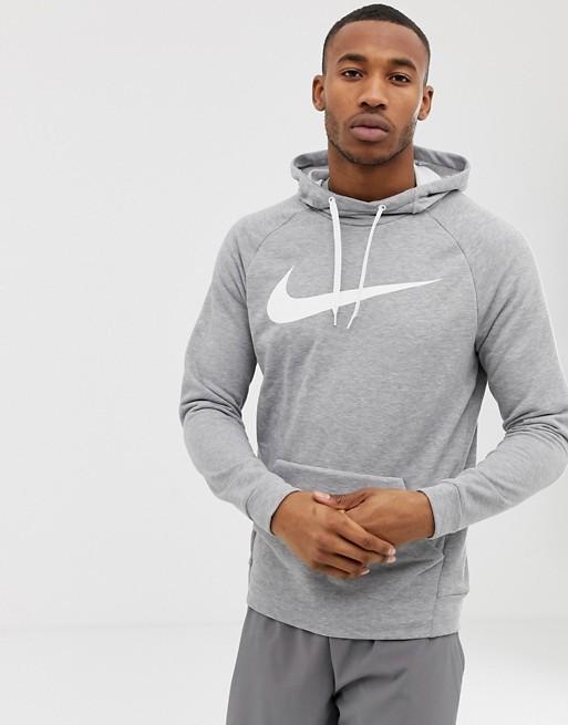 Реглан мужской Nike Dry Swoosh Hoodie grey/white