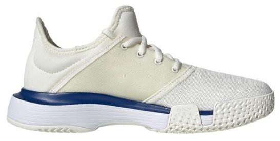 Детские теннисные кроссовки adidas SoleCourt xJ cream/blue