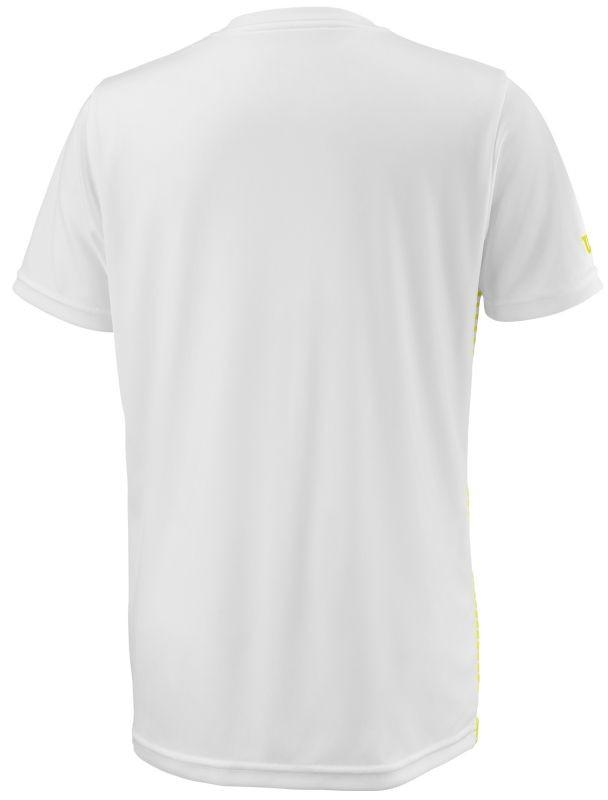 Теннисная футболка детская Wilson Team Striped Crew safety yellow/white