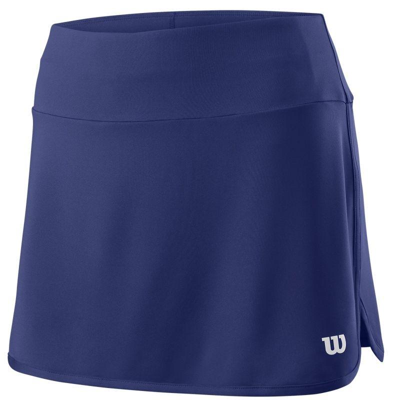 Теннисная юбка женская Wilson Team 12.5 Skirt blue depths