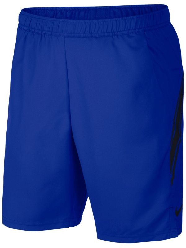 Теннисные шорты мужские Nike Court Dry 9in Short game royal/black/black