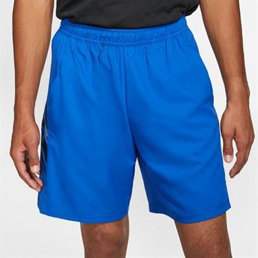 Теннисные шорты мужские Nike Court Dry 7in Short game royal/black/black