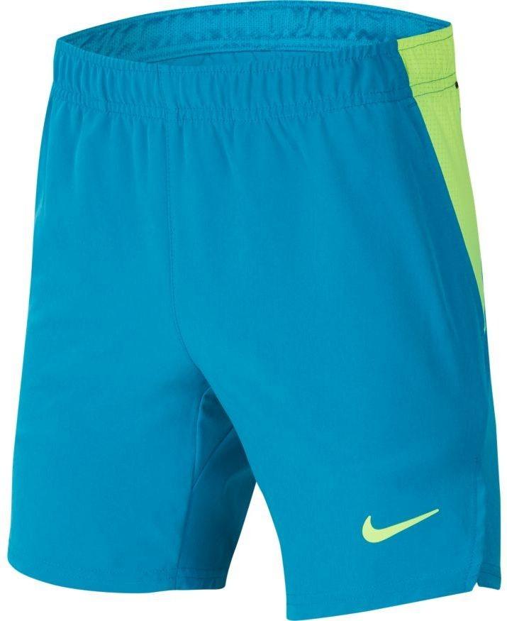 Теннисные шорты детские Nike Boys Court Flex Ace Short neo turq/volt/volt
