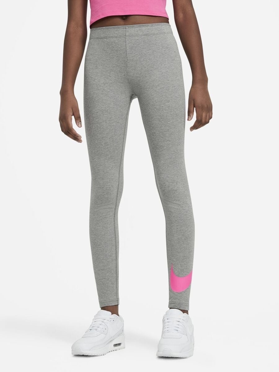 Легинсы детские Nike Favorites Swoosh Tight grey/active fuchsia
