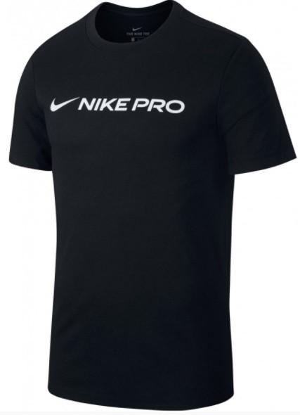 Теннисная футболка мужская Nike Pro Dry Tee black/white