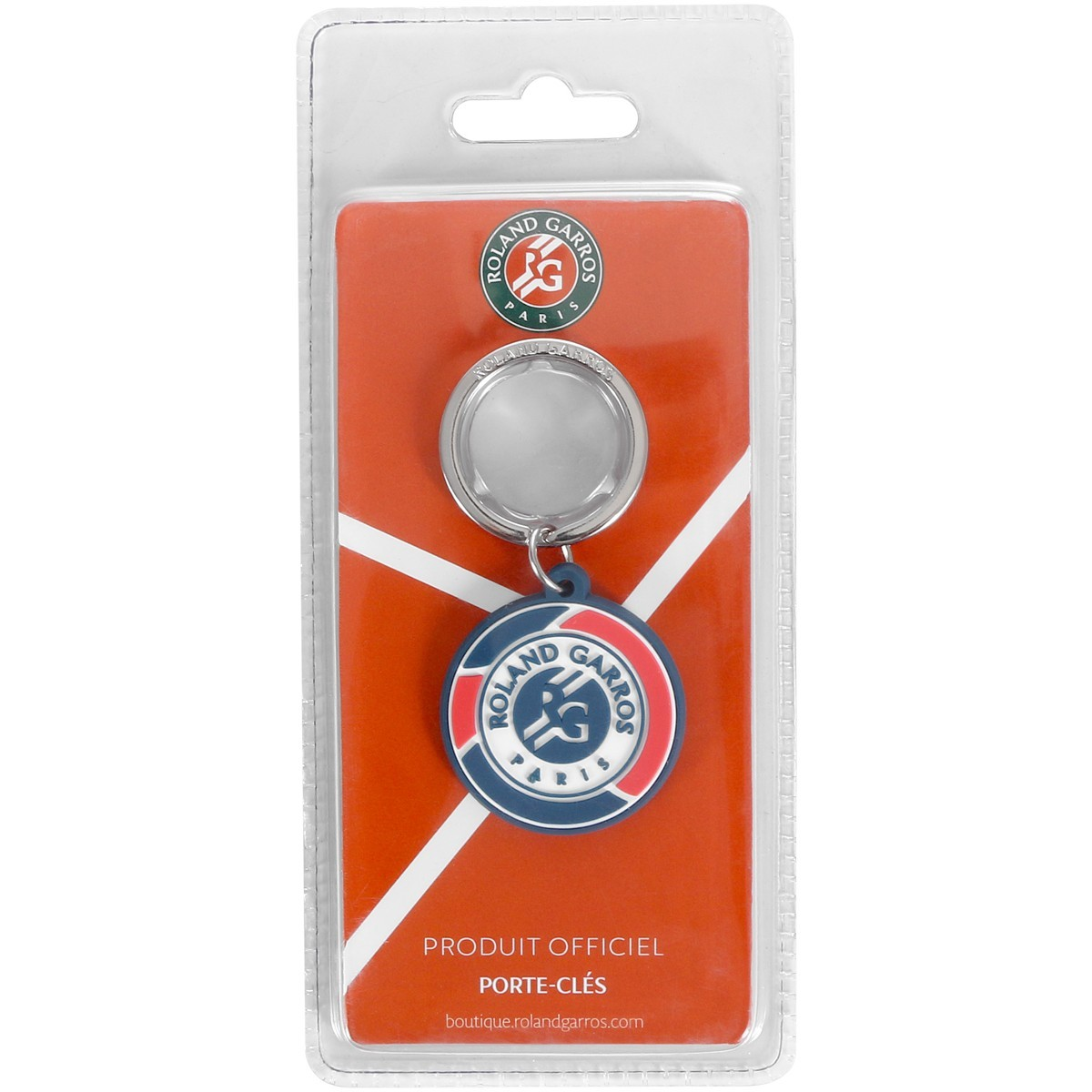 Брелок Rolland Garros Three Tone logo keychain