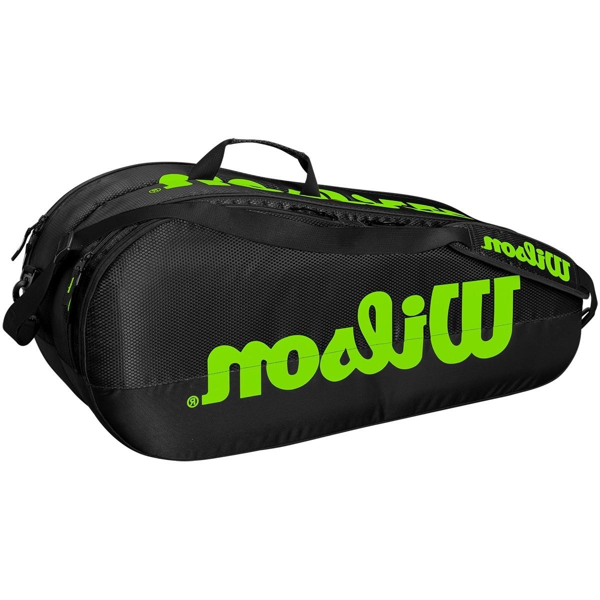 Теннисная сумка Wilson Team 2 Comp 6 Pk black/green