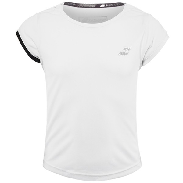 Теннисная футболка детская Babolat Performance Cap Sleeve Top Girl white/silver