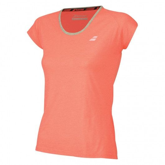 Теннисная футболка детская Babolat Core Tee Girl fluo strike/heather
