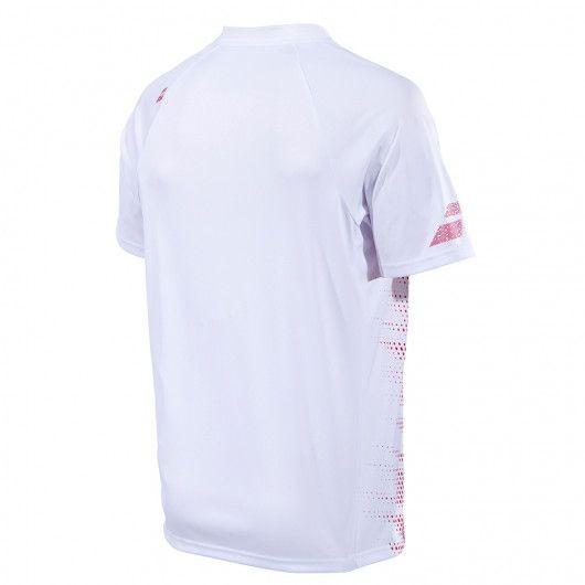 Теннисная футболка мужская Babolat Polo Performance Men white/salsa поло