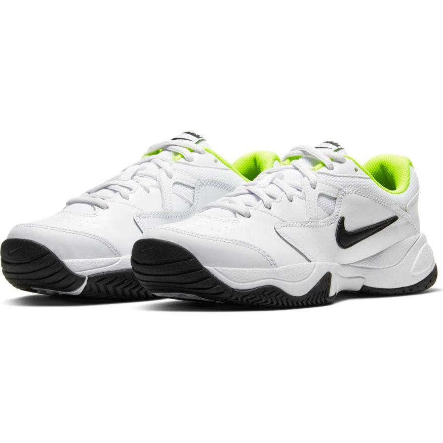 Детские теннисные кроссовки Nike Jr Court Lite 2 white/black/volt
