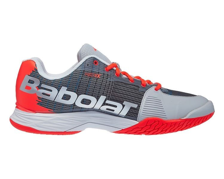 Теннисные кроссовки мужские Babolat Jet Mach II All Court Men silver/fluo strike