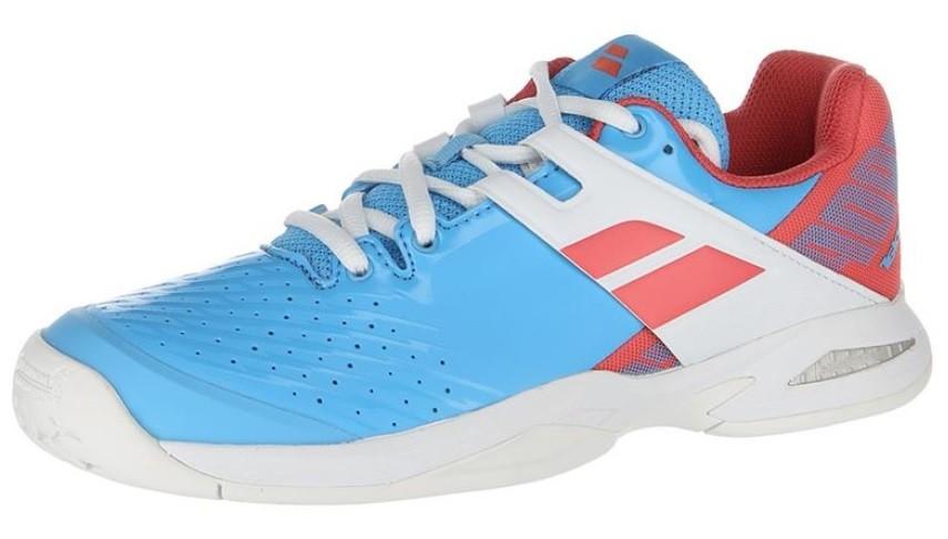 Детские теннисные кроссовки Babolat Propulse All Court Junior sky blue/pink