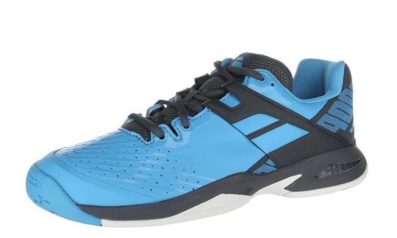 Детские теннисные кроссовки Babolat Propulse All Court Junior black/blue/grey