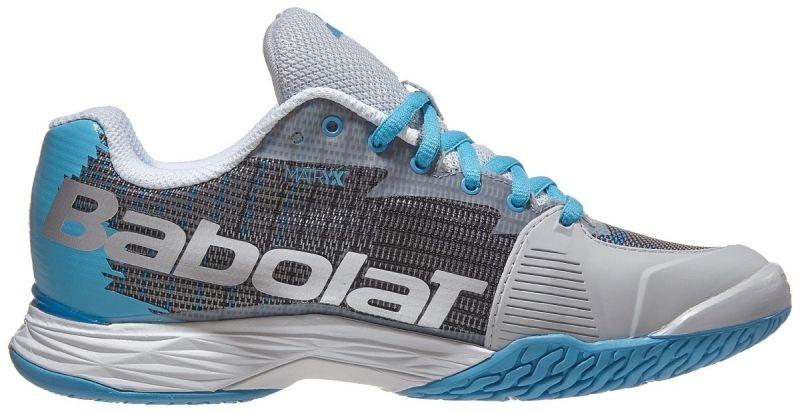 Теннисные кроссовки женские Babolat Jet Mach I silver/horizon blue