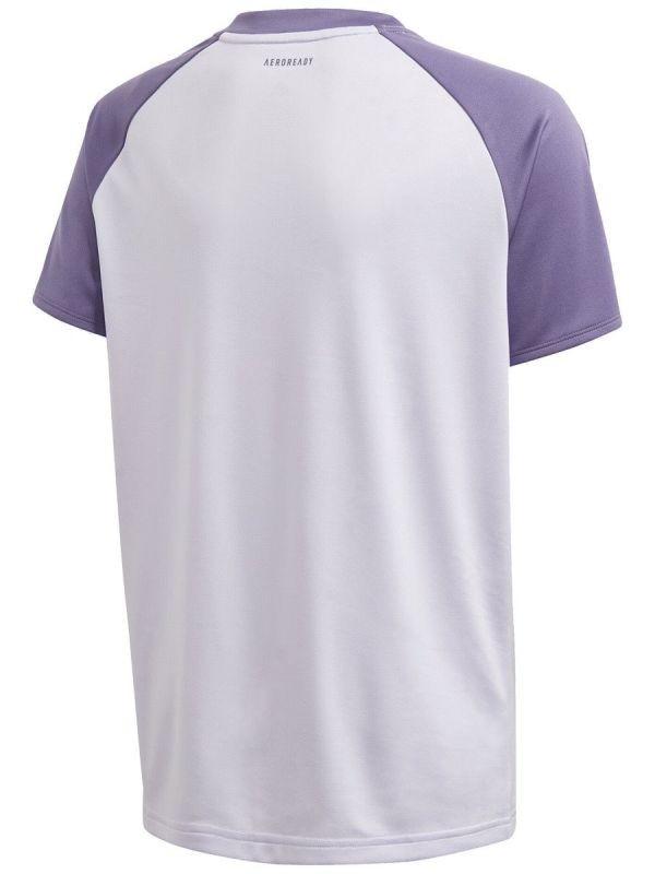 Теннисная футболка детская Adidas B Club Tee purple tint/tech purple