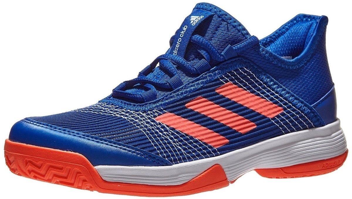 Детские теннисные кроссовки adidas Adizero Club Junior collegiate royal/solar red/white