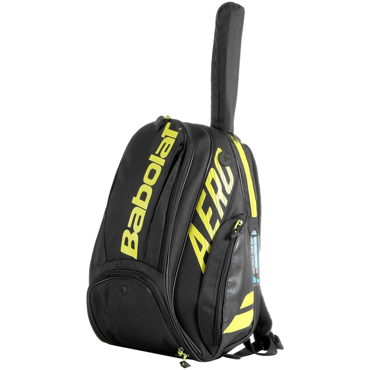 Теннисный рюкзак Babolat Pure Aero Backpack 2021 black/yellow