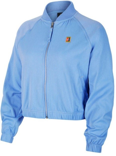 Кофта женская Nike Court Full Zip Jacket royal pulse/silver/team gold