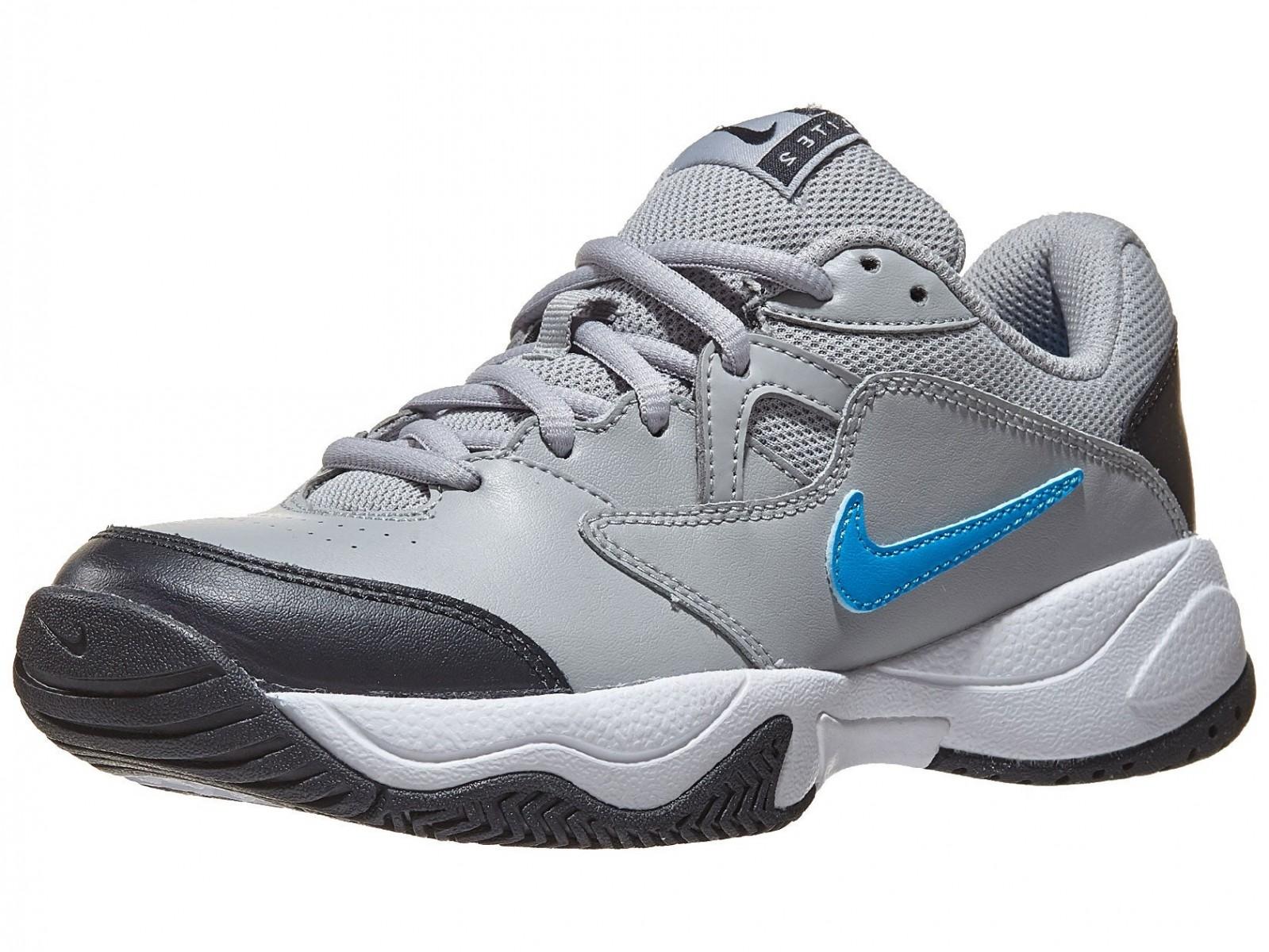 Детские теннисные кроссовки Nike Jr Court Lite 2 light smoke grey/blue hero