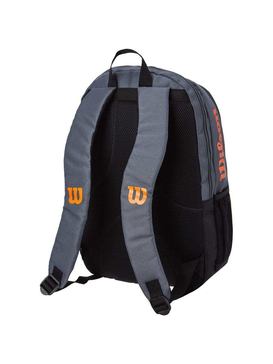 Теннисный рюкзак Wilson Burn Team Backpack grey/orange