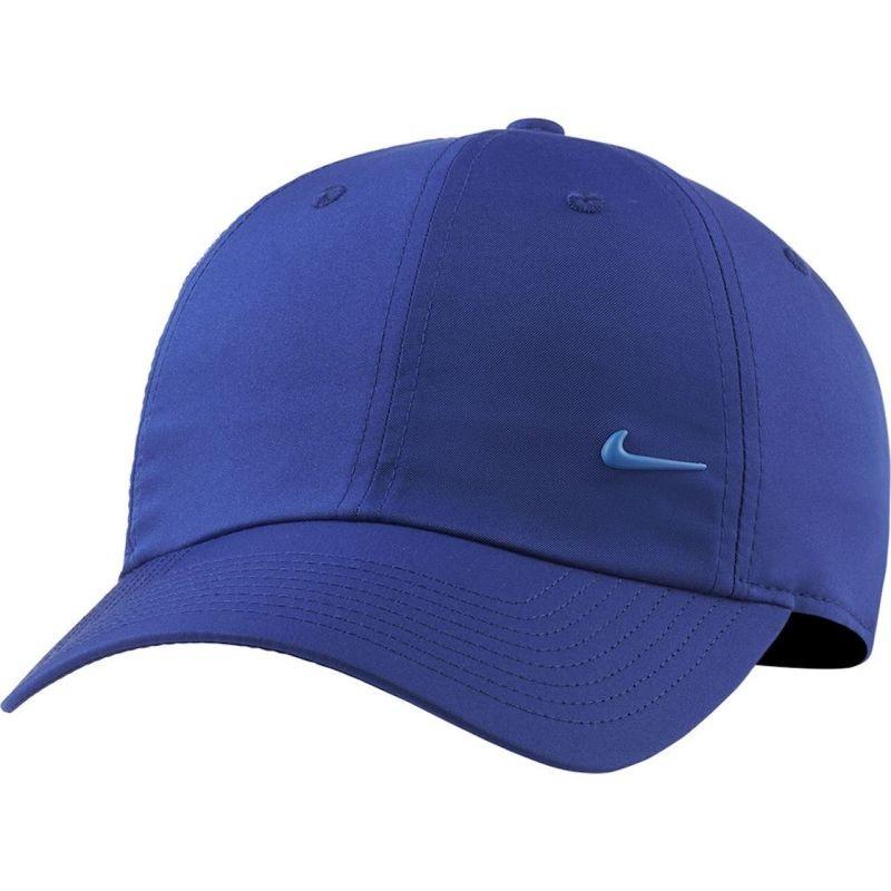 Теннисная кепка Nike H86 Metal Swoosh Cap deep royal blue/metallic silver