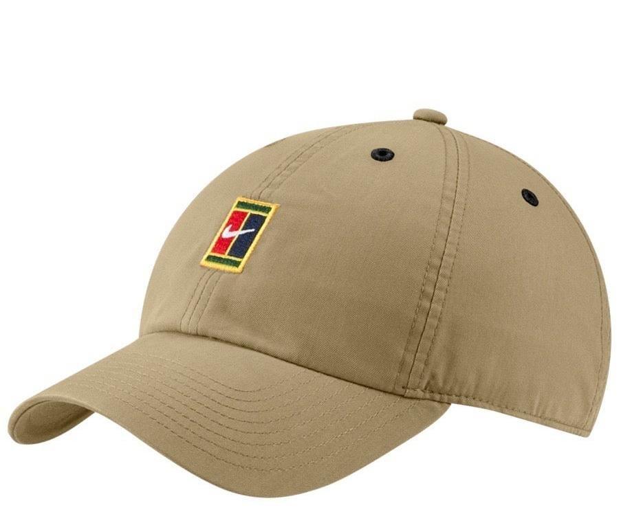 Теннисная кепка Nike H86 Court Logo Cap parachute beige