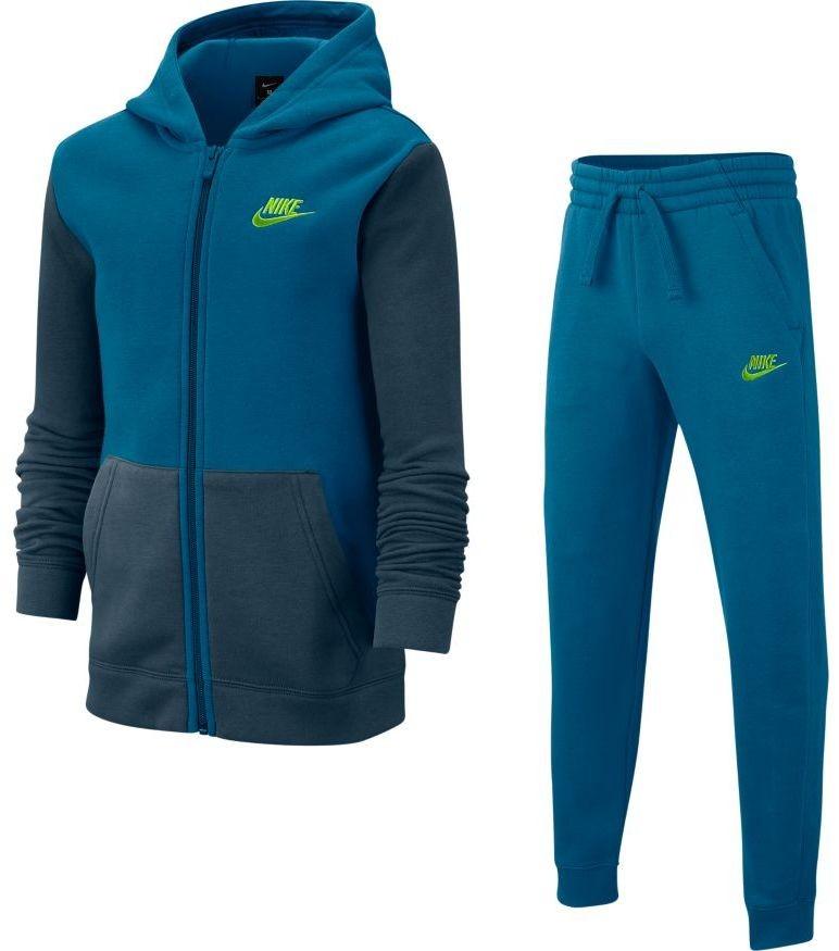 Спортивный костюм детский Nike Boys NSW Track Suit BF Core green abyss/deep ocean/volt