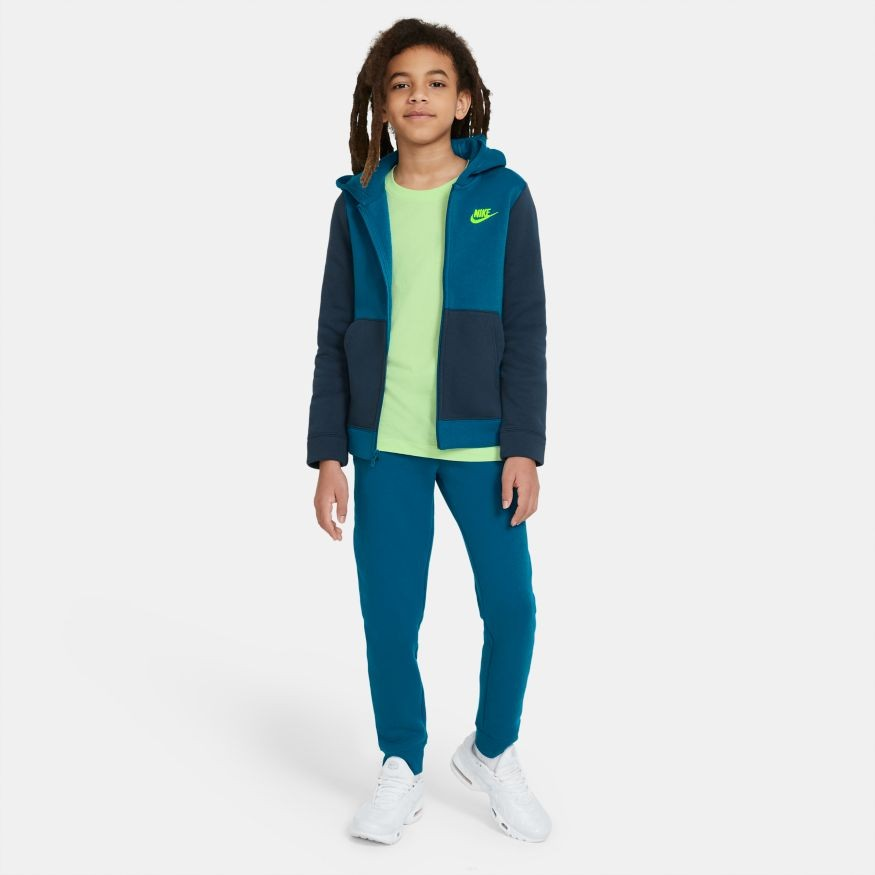 Спортивный костюм детский Nike Boys NSW Track Suit BF Core green abyss/deep ocean/volt