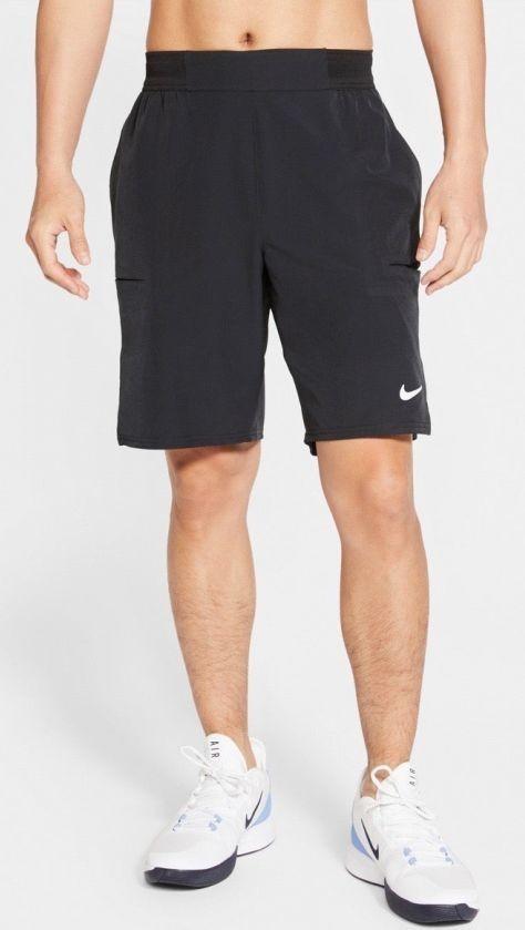 Теннисные шорты мужские Nike Court Advantage Short 9in black/white