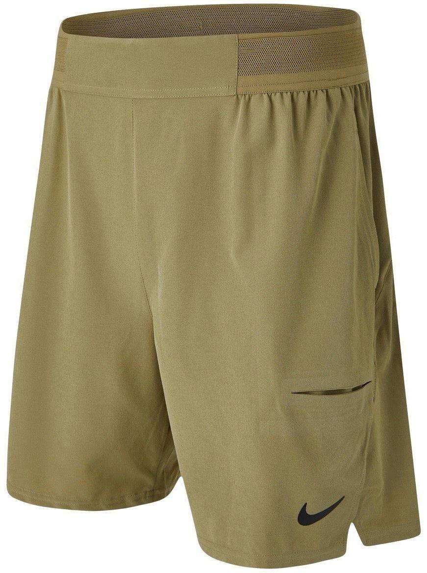 Теннисные шорты мужские Nike Court Advantage Short 9in parachute beige/black