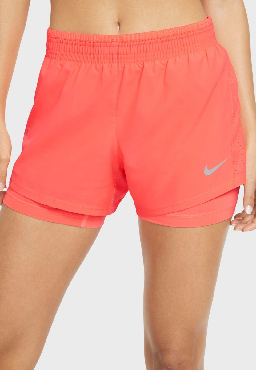 Теннисные шорты женские Nike Women's 2in1 Short orange/white