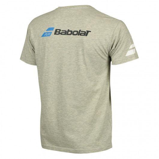 Теннисная футболка детская Babolat Core Tee Boy grey/white