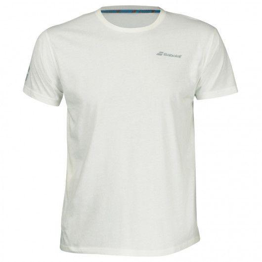 Теннисная футболка детская Babolat Core Tee Boy white/white