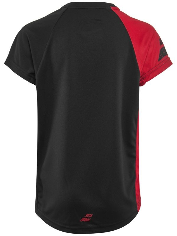 Теннисная футболка детская Babolat Performance Crew Neck Tee Boy black/salsa