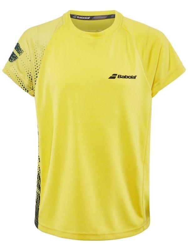 Теннисная футболка детская Babolat Performance Crew Neck Tee Boy dark yellow/black