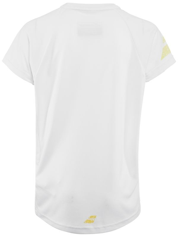 Теннисная футболка детская Babolat Performance Crew Neck Tee Boy white/dark yellow