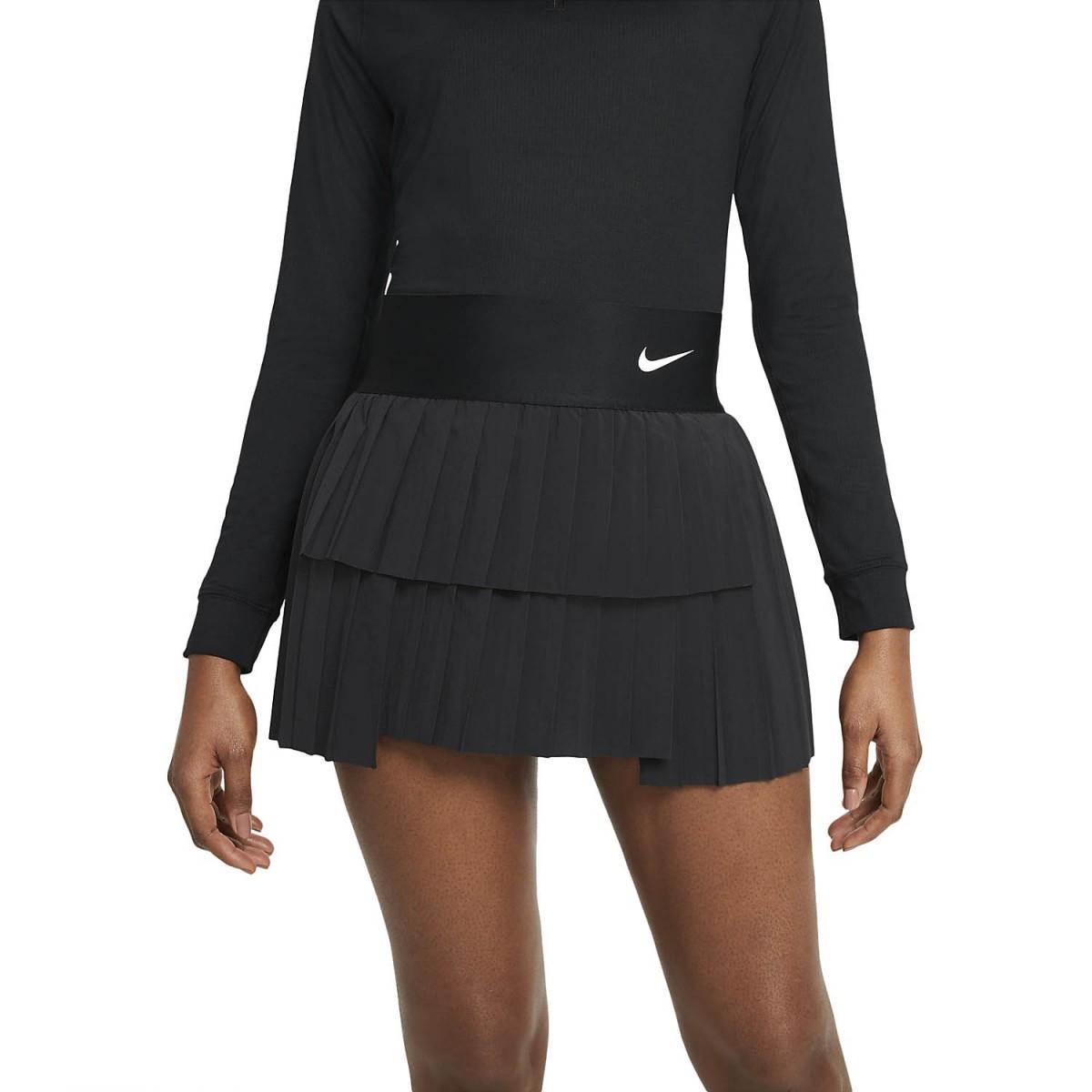 Теннисная юбка женская Nike Court Advantage Skirt Pleated black/white