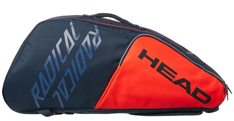 Теннисная сумка Head Radical 6R Combi orange/navy