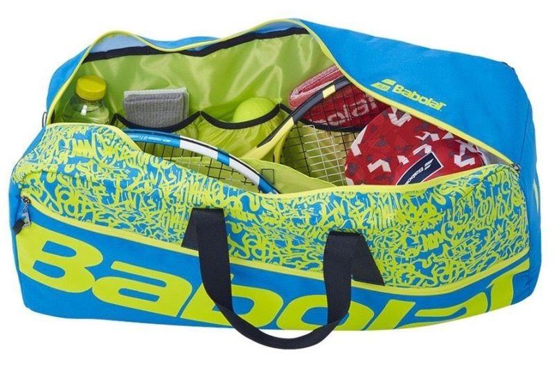 Теннисная сумка Babolat Duffle M Classic blue/yellow lime