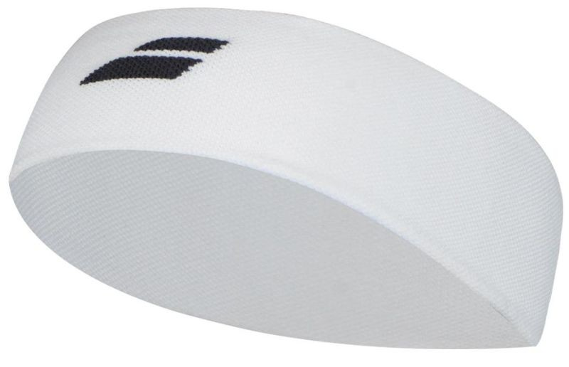 Повязка на голову Babolat Logo Headband white/black