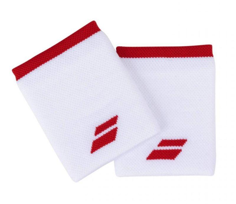 Напульсник Babolat Logo Jumbo Wristband white/fiesta red