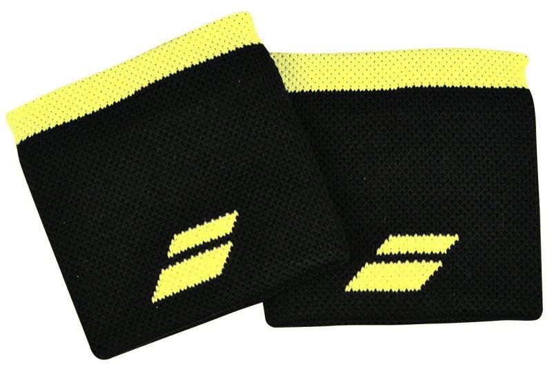Напульсник Babolat Logo Wristband black/sulphur spring