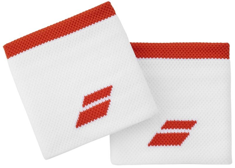 Напульсник Babolat Logo Wristband white/fiesta red