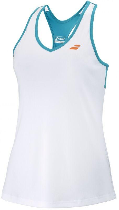 Теннисная майка детская Babolat Play Tank Top Girl white/caneel bay
